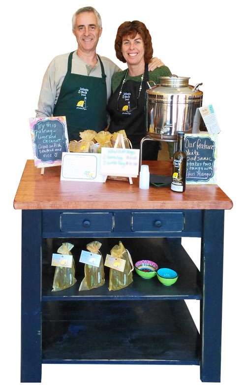 The Ruddels, owners of Southampton Olive Oil