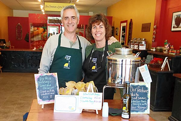 Dave & Donna Rudell, owners of Southampton Olive Oil Company