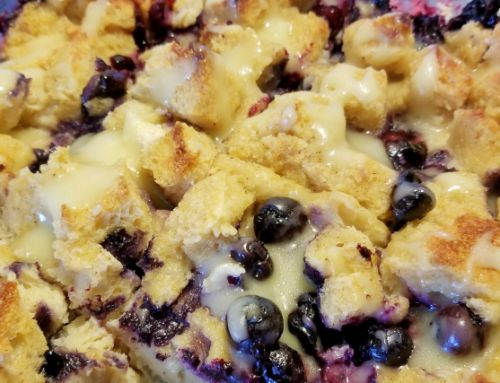 'Passionate' Blueberry Bread Pudding