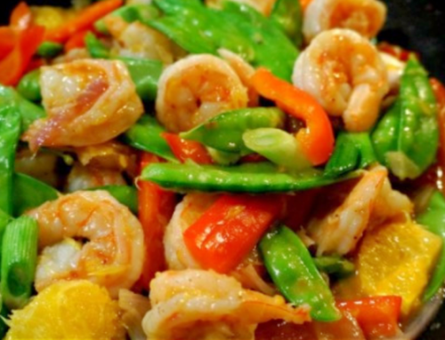 Orange Stir Fry with Shrimp or Chicken