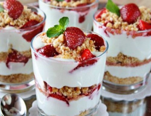 Salted Caramel Strawberry Parfait