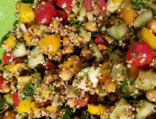 Sicilian Quinoa & Chickpea Salad
