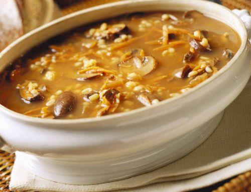 Golden (Vegan) Mushroom (Barley)  Soup!