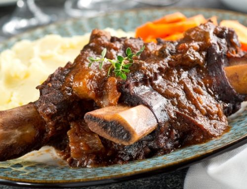 Balsamic Beer Braised Beef Ribs
