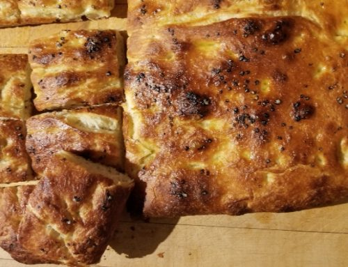 No-Knead Garlic Focaccia
