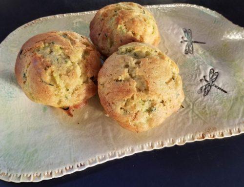 Lemon Zucchini Olive Oil Muffins